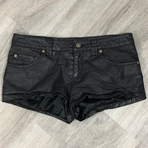 Free People Faux Leather Shorts Size 2